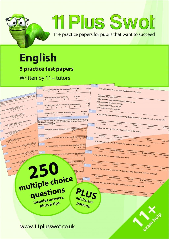 11 Plus Swot GL English Multiple Choice Exam Book