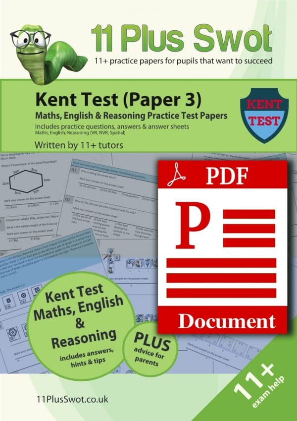 Kent Test 11Plus Paper 3 Download PDF