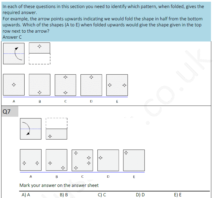 11plus spatial reasoning test 2