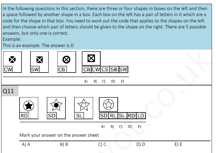 11plus non verbal reasoning test 2